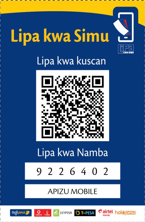 LIPA KWA SIMU/ MITANDAO YOTE ONLY TZ